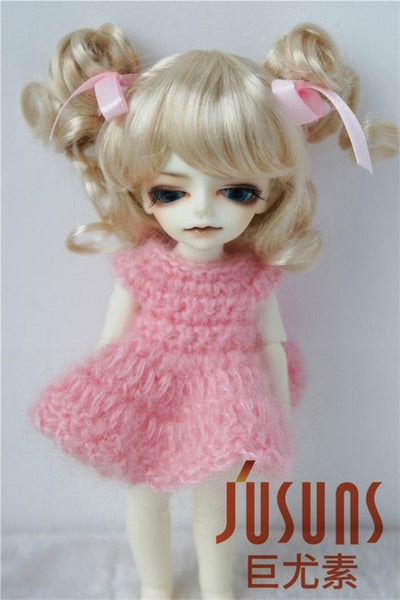 Soft synthetic mohair BJD wig tiny JD011 1/12 1/8 Cute Charming Curl bjd Doll Wig size 3- 4-5-6
