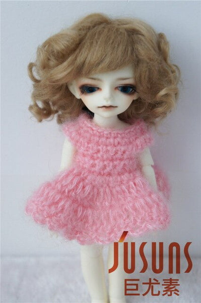 JD012 1/8 5-6 inch wig fashion BJD doll Lovely Mohair Wigs Baby wave wig for tiny doll popular
