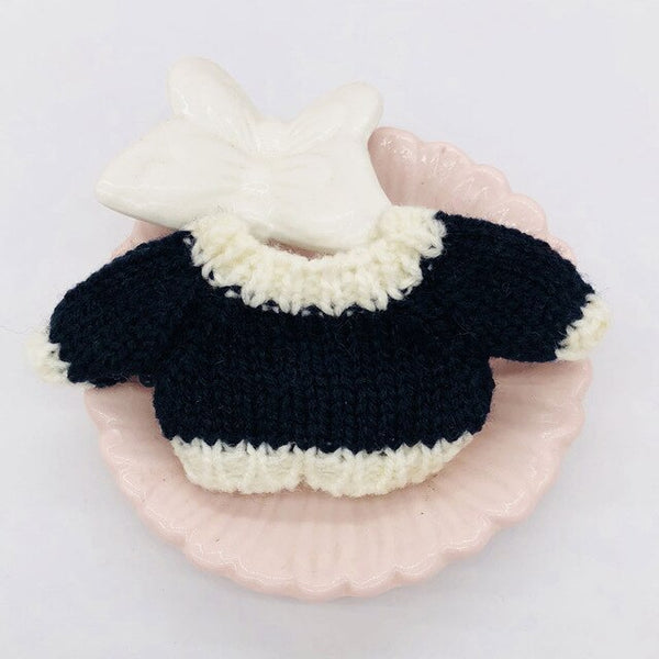 Ob11 baby wear knit sweater winter wear 1/12 1/8 BJD beautiful knot pig doll clothing