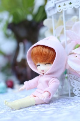 doll clothes hoodie with big cap available for cu-poche OB11 doll accessories doll shirts