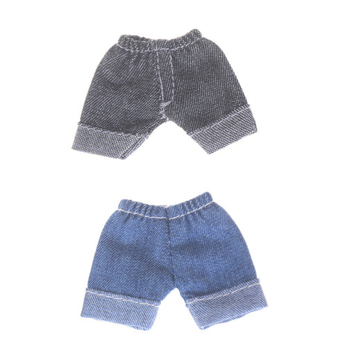 1pc 2 Color Doll Jeans Leggings Obitsu11 OB11 1/12 BJD Doll Short Pants Clothes Accessories Jeans