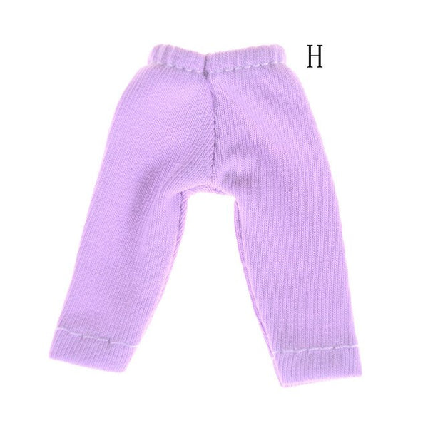 1 Pcs Candy Color Cute Long Pants Doll Tights Pants Leggings For  11 OB11 1/12   Doll Pants Clothes