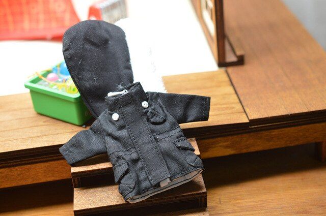 Obitsu11 OB11 doll clothes windbreaker detachable cap available for cu-poche OB11 1/12 size