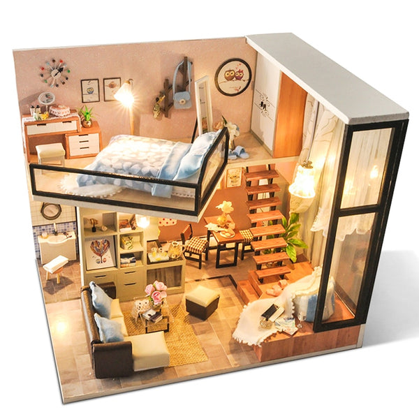 Miniature dollhouse Furniture Kit
