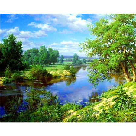 Diamond Embroidery Scenic Diamond Painting Full Square Diamond Mosaic Trees Picture