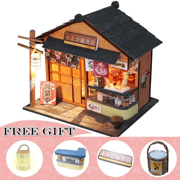 Doll House Miniature DIY With Furnitures Casa House Countryard Dweling Toys M905