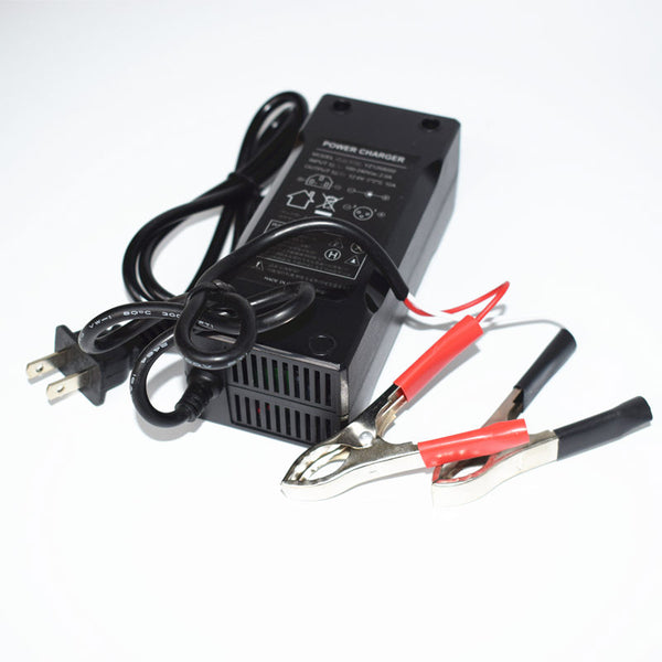 12.6V 10A Output Battery Pack Charger AC Male Head Red Black Clips US Plugs Voltage Ranges 100-240V