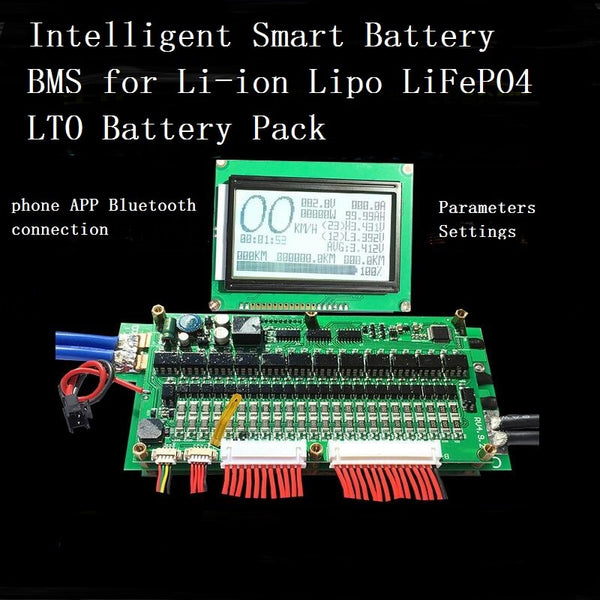 Bluetooth Battery BMS With LCD