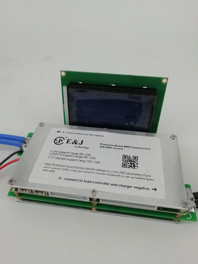 70A 100A 150A 200A 300A Bluetooth Battery BMS With LCD 8S-24S LiFePo4/7S  -24S Li-ion/10S -24S LTO