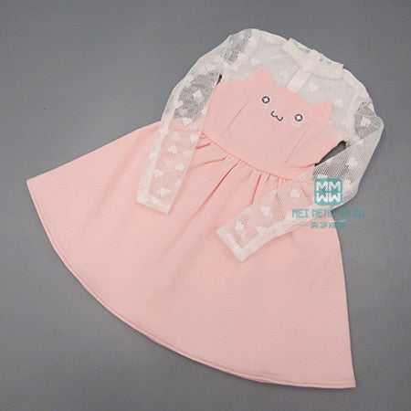 BJD doll clothes girl dress for 1/3 elegant cat ears temperament dress