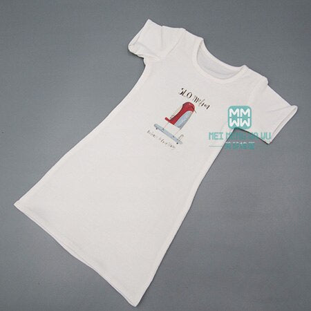Fits 1/3  BJD doll clothes fashion Casual mid-length cotton printed T-shirt