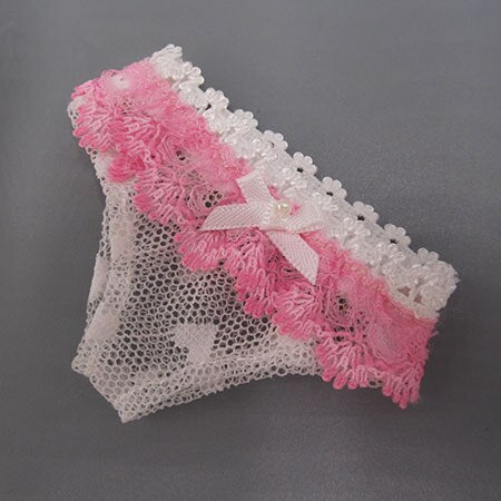 BJD doll clothes Accessories fits 1/3 doll Pink Wool vest Lace panties