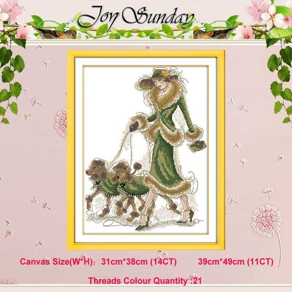 Beauty woman Counted Cross Stitch 11CT 14CT Cross Stitch Set Wholesale DIY Chinese Cross-stitch Kit Embroidery Needlework