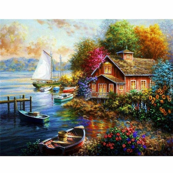 Painting By Numbers Frameworks Coloring By Numbers Pictures Home Decor Canvas