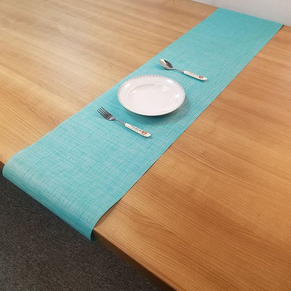 PVC Table Runner 30x180cm Modern Dining Table Mat Waterproof Non-slip Pad Placemat