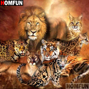 "Full Square/Round Drill 5D DIY Diamond Painting ""Animal lion tiger"" 3D Embroidery Cross Stitch A10870"