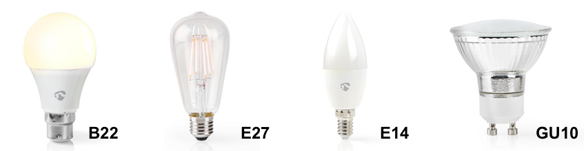 Tech4 Smart Bulb Types B22, E27, E14, GU10