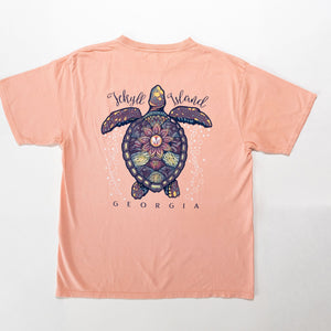Turtle Mosaic Cotton Tee