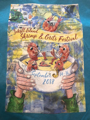 2018 Shrimp and Grits Festival Tshirt