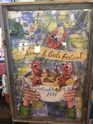 2018 Shrimp and Grits Festival Poster