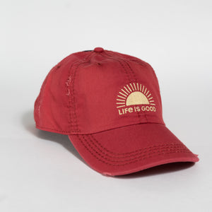 Life is Good - Sunshine Chill Cap in Faded Red & Yellow