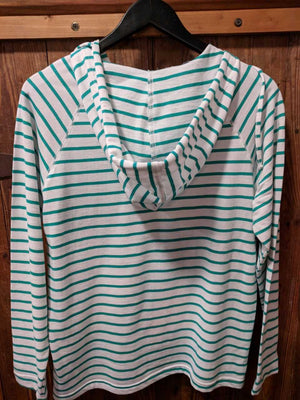 Green Striped Hoodie