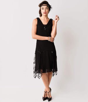 Black Hemingway Flapper Dress