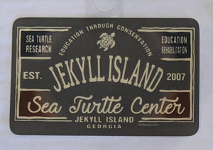 Research, Education, Rehabilitation Jekyll Island Turtle Sticker