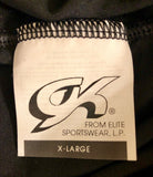 WAS $36.95 NWT! GK Elite Ladies Black Smooth Velvet Crop Tights Size XL - Outlet Values