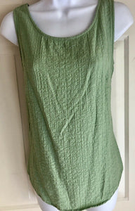 WOOLRICH WOMEN'S GREEN SLEEVELESS SEERSUCKER TOP SIZE XS EUC!! - Outlet Values