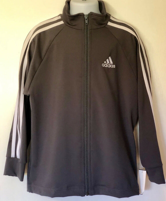 WAS $107.99 NWT! ADIDAS DRY TECH CHILDS GRAY GK ELITE  WARM UP JACKET Sz CS - Outlet Values
