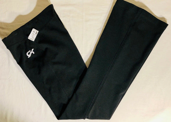 Was $29.99 NWT! GK Elite LADIES BALANCE FITTED LOW RISE WARM UP PANTS BLACK AS - Outlet Values