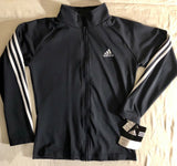 WAS $107.99 NWT! ADIDAS GK ELITE FITTED DRY TECH NAVY WARM UP JACKET SIZE AXS - Outlet Values
