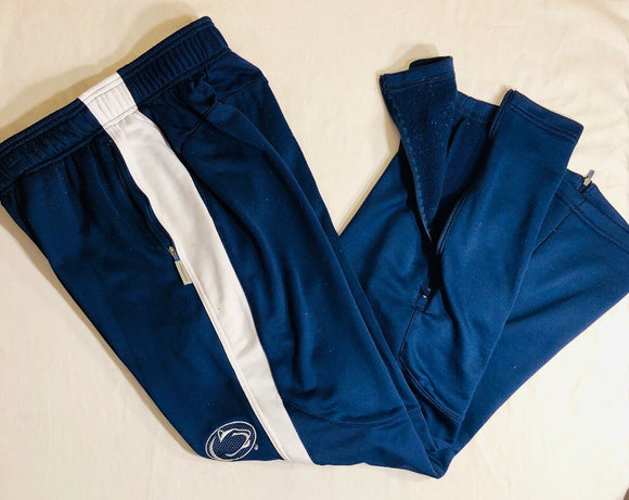 NIKE PENN STATE NITTANY LIONS Dri-FIT SWEATPANTS Navy/White Men's M Preowned - Outlet Values