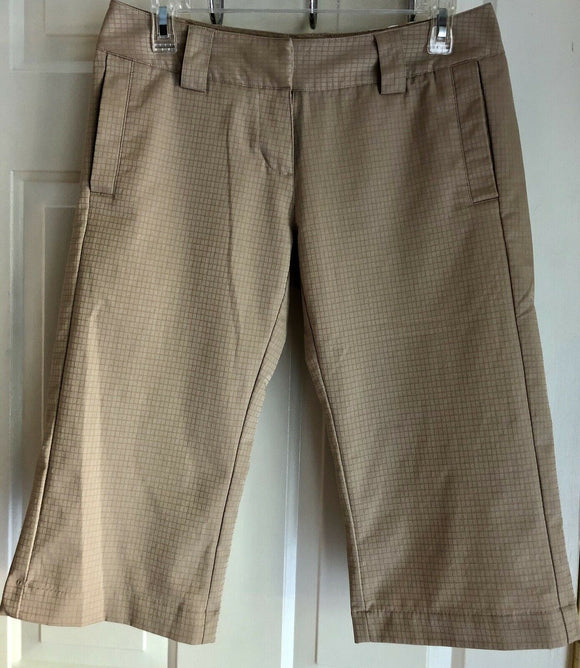 ADIDAS CLIMALITE WOMEN'S GOLF CAPRI TAN SIZE 2 - Outlet Values