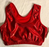 NWT! GK Elite Red Mystique Cheer Dance Top Racerback Size Adult S - Outlet Values
