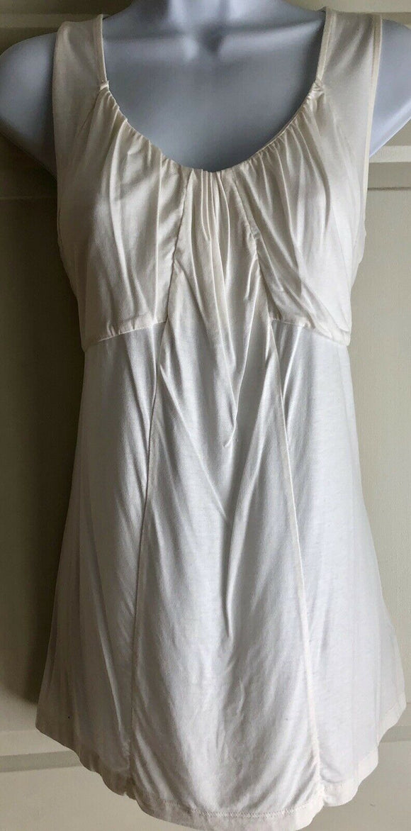 LIZ CLAIBORNE Womens Size Small Sleeveless Cami Modal/Spandex Ivory Top EUC! - Outlet Values