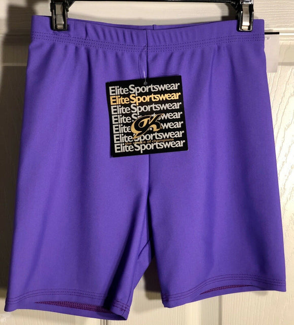 GK WORKOUT SHORTS LADIES SMALL PURPLE DANCE CHEER GYMNASTICS NYLON/SPANDEX AS   - Outlet Values