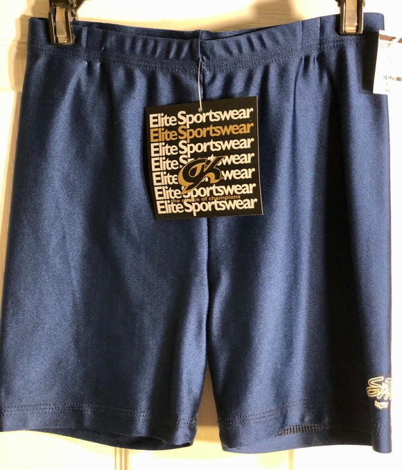 SHANNON MILLER GK WORKOUT SHORTS LADIES SMALL NAVY NYLON/LYCRA GYMNASTS DANCE AS - Outlet Values