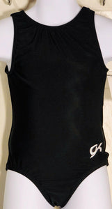 NWT!  GK Elite Classic Tank Gymnastic Dance Leotard Black Size CS - Outlet Values