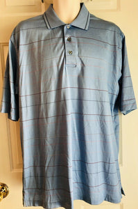 Jos A Banks Leadbetter Golf Size M Stays Cool Technology Light Blue Stripe - Outlet Values