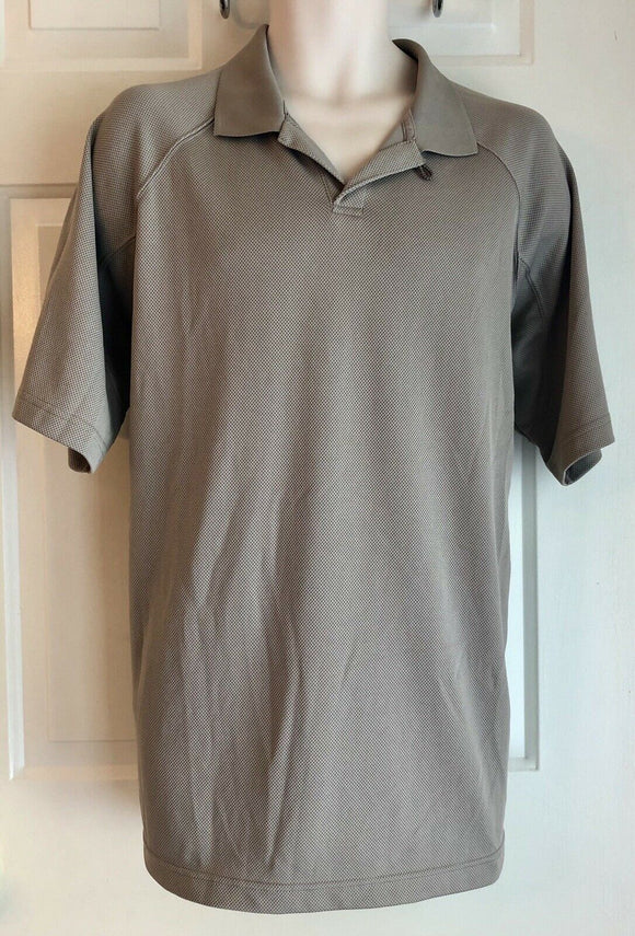 COLUMBIA POLO MEN'S BROWN SHORT SLEEVE OPEN COLLAR SHIRT SIZE XL POLYESTER EUC!! - Outlet Values