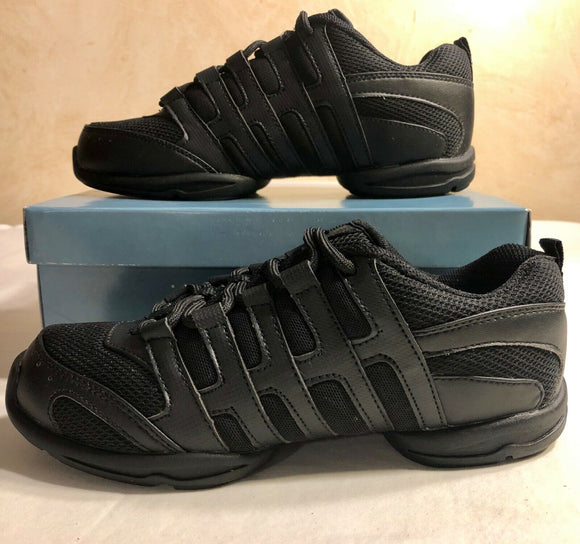Was $49.50 NIB Leo LS5100L NRG LITE BLACK SNEAKERS Size 6.5 - Outlet Values