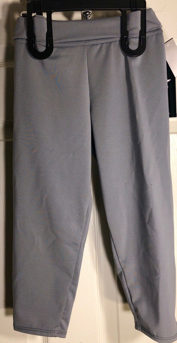 WAS $67.99 NWT! GK Elite Gymnastic Dance Capri Tights Dry Tech Gray Child L - Outlet Values