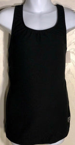 GK CHEER TOP CHILD LARGE BLACK OPEN RACERBACK DRYTECH TECHMESH CL NWT!  - Outlet Values