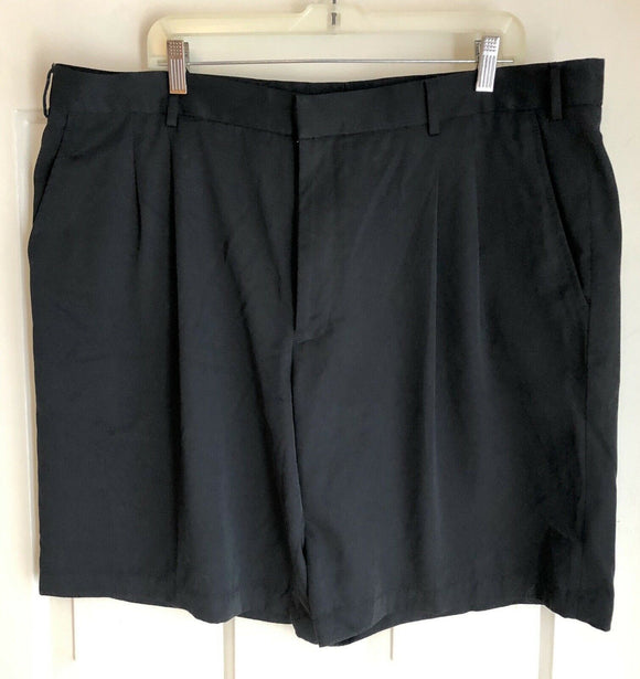 Greg Norman Mens Golf Shorts Flat Front Black Sz 40 Polyester Microfiber - Outlet Values