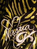 WAS $59.99! NASTIA LUIKIN LIME FOIL ANIMAL PRINT GK TANK GYMNASTICS LEO Sz CL - Outlet Values