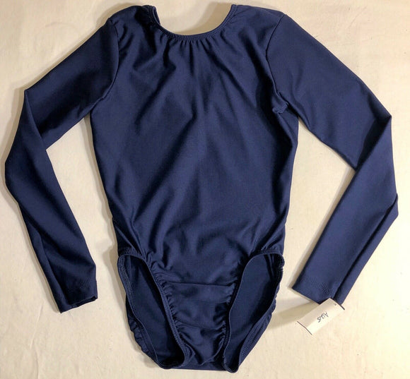 WAS $40.95 NWT! GK ELITE LONG SLEEVE SOLID BLUE GYMNASTICS DANCE LEOTARD CHILD L - Outlet Values