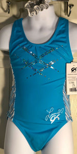 WAS $54.99 GK Laurie Hernandez GK Atlantic Chill Gymnastic Leo Blue Spanglez CM - Outlet Values