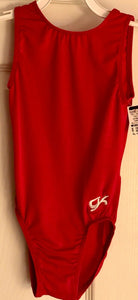GK BASIC TANK CHILD MEDIUM RED NYLON/SPANDEX GYMNASTICS DANCE LEOTARD CM NWT - Outlet Values